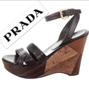 Authentic Prada Wedges